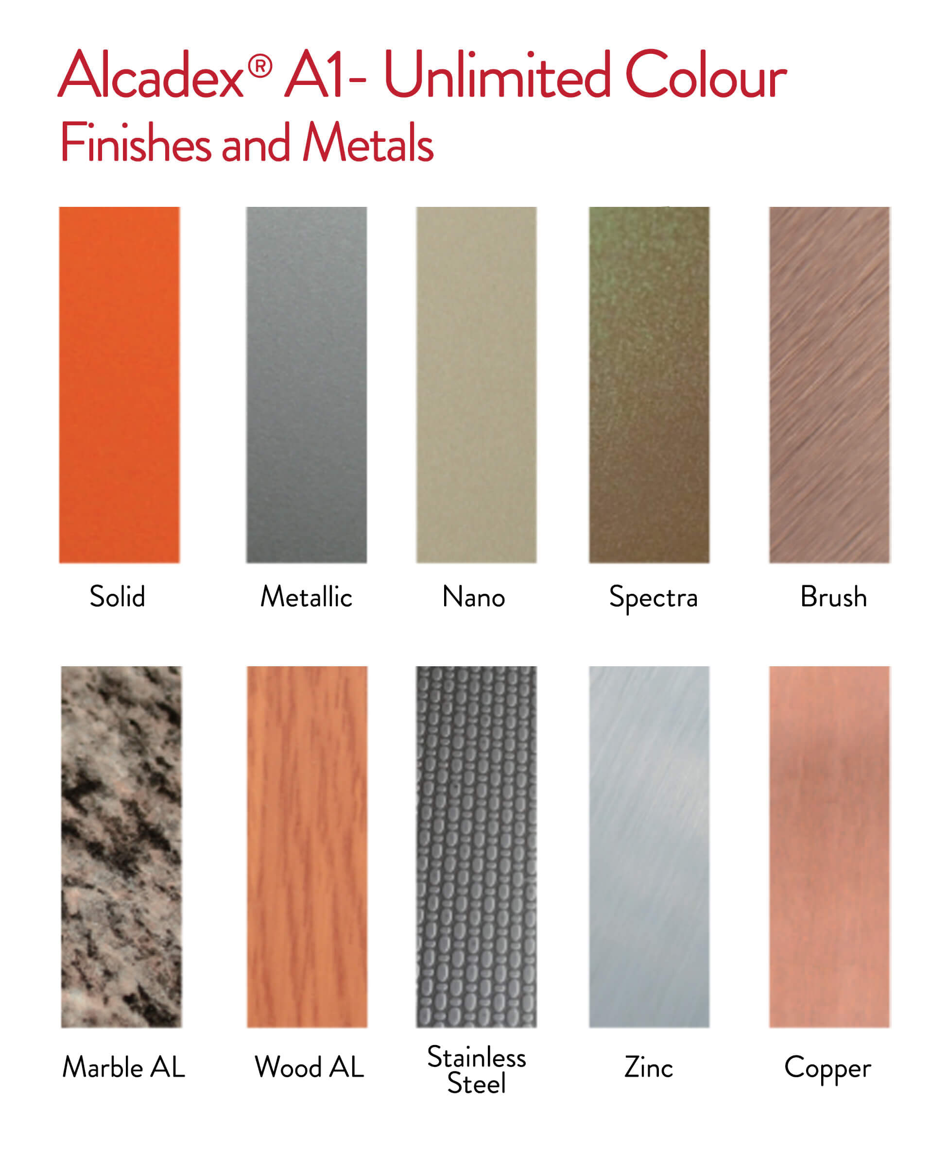 Alcadex home alcadex a1 unlimited colour finishes and metals nvjuhfo Image collections